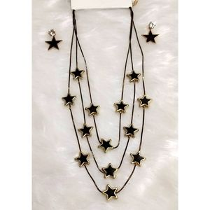 Quirky star Triple layered Necklace with matching Earrings ⭐⭐⭐